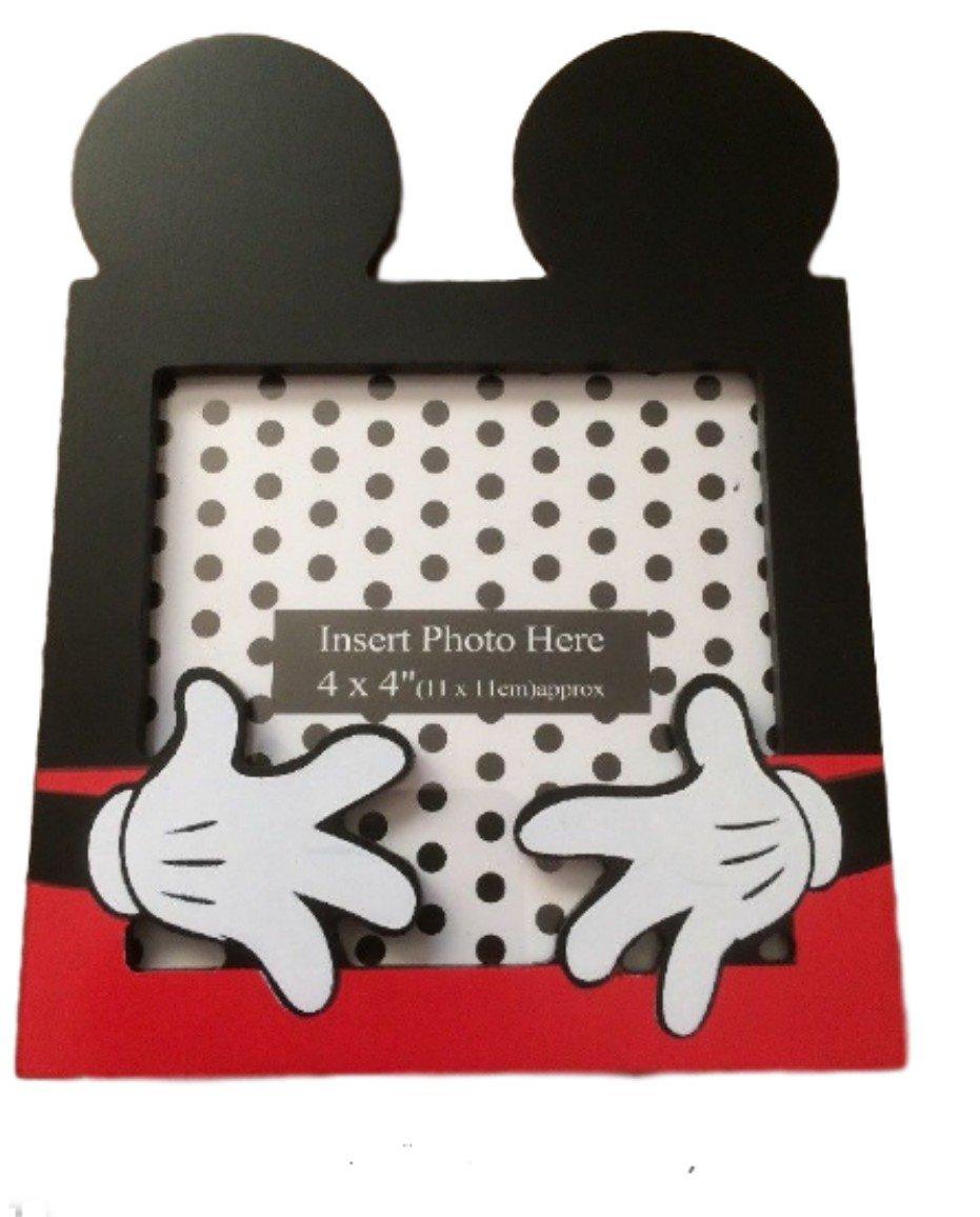 Amazon.de: Primark Disney Micky Maus 4 x 4 Fotorahmen ~ Ohren ~ weiß ...