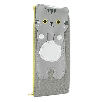 KFSO - Estuche para lápices, diseño de gato con cremallera: Amazon.es: Juguetes y juegos