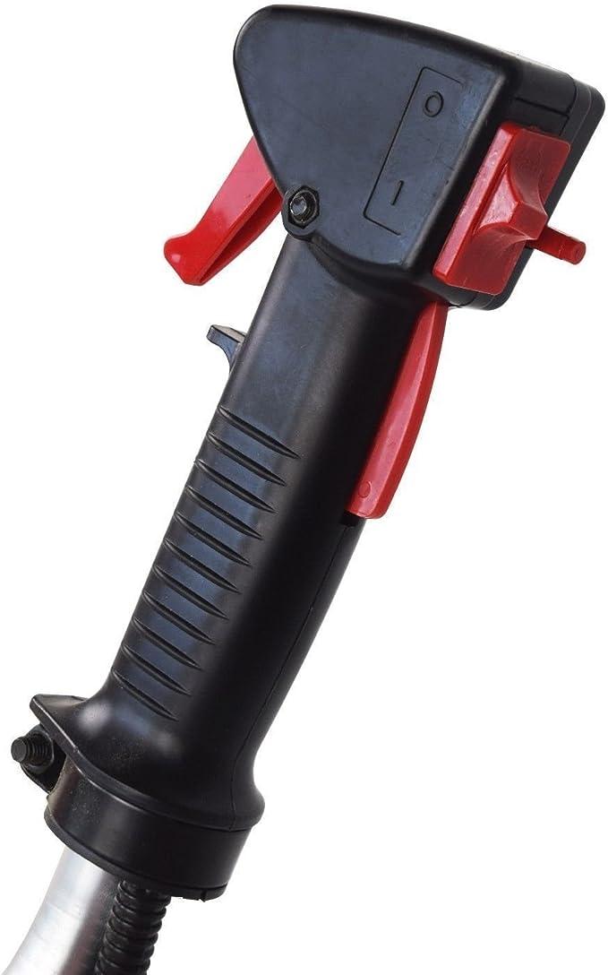 KUDA CN-520 Desbrozadora Motor de Gasolina, 2 tiempos, Barra Partida con disco 3 puntas, cabezal de hilo, disco de vidia, arnés, roja, 52 cc: Amazon.es: Bricolaje y herramientas