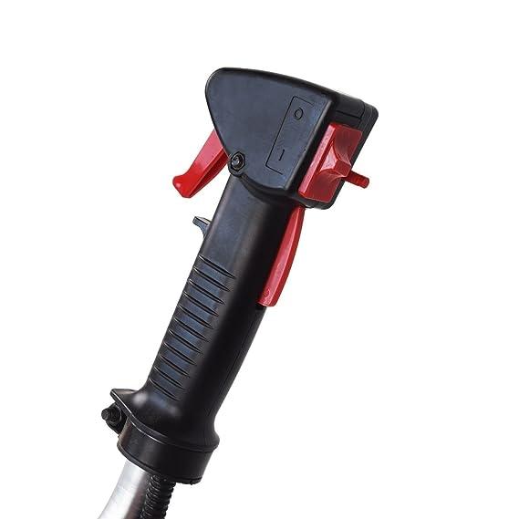KUDA CN-520 Desbrozadora Motor de Gasolina, 2 tiempos, Barra Partida con disco 3 puntas, cabezal de hilo, disco de vidia, arnés, roja, 52 cc
