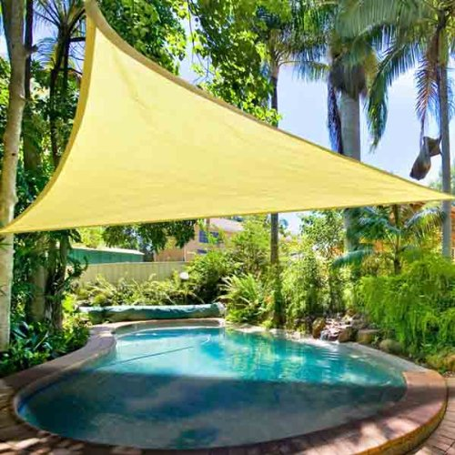 Amazon com   Triangular Shade Sail Desert Sand 16  Ft Canopy Top Overhead  Cover Sun UV Protection Portable Lightweight Sunscreen Fabric for Outdoor  Patio  Amazon com   Triangular Shade Sail Desert Sand 16  Ft Canopy Top  . Outdoor Fabric Sun Shades. Home Design Ideas
