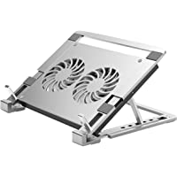 EKDJKK Laptop Stand, Aluminium Laptop Cooler Stand, Notebook Laptop Holder, Notebook Cooling Stand with 2 Fans, 1500 RPM…