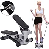 Goplus Step Air Climber Stepper Twister Aerobic Fitness Exercise Machine w/ Resistance Band