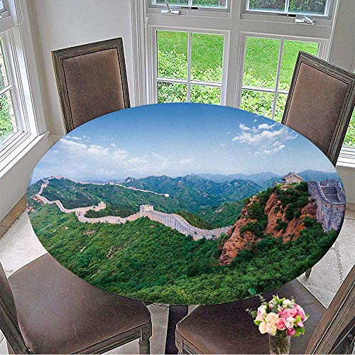 Mikihome The Round Table Cloth Great Wall The Landmark of China and Beijing for Birthday Party, Graduation Party 40
