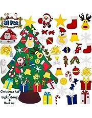 YJT-Smyer Felt Christmas Tree Set with 31Pcs Detachable DIY Ornaments, Xmas Decorations, Kids Wall Hanging Xmas Gifts, DIY Home Decoration,Children's Handmade Felt Craft Kits New Year Gifts