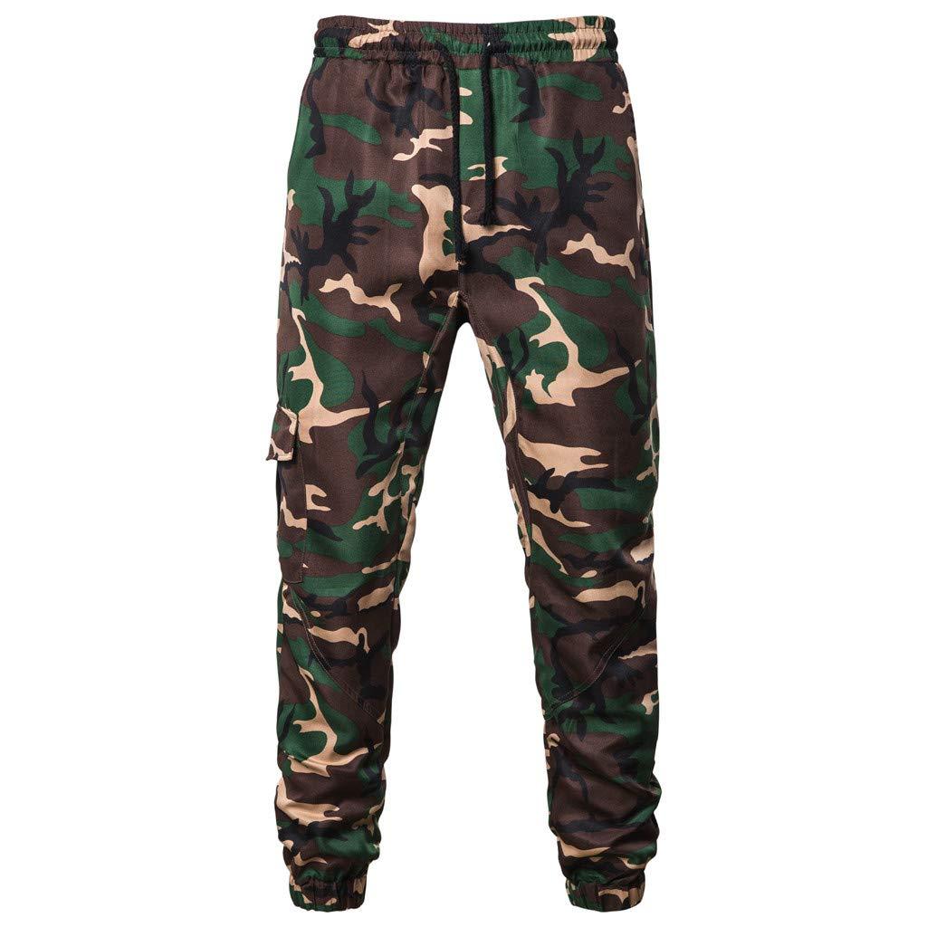 IEasⓄn Men's Camouflage Longs Cargo Pants,Man Fashion Casual Sport Tooling Pants by IEasⓄn (Image #1)
