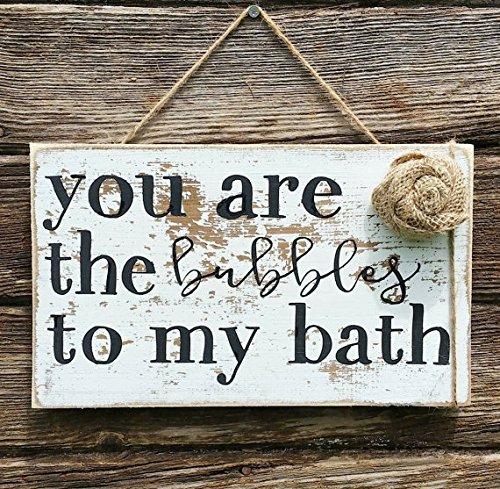 You Are The Bubbles To My Bath Wood Sign | Rustic Bathroom Decor | Woodland  Bathroom