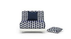 Urban Ladder Finn Floor Folding Adjustable Single Seater Sofa cum Bed (Inkblot Blue)