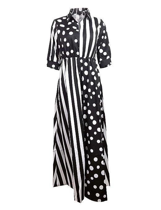 Vestido YONGYONGCHONG Gasa de Verano para Mujer Lunares Estampado ...