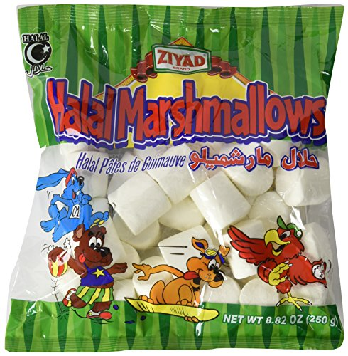 Ziyad Halal Marshmallows- 2 Pack of 8.82 Ounce Bags