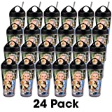 PixCup – 24 Pack - Photo Tumbler with Straw – The Cup That's A Picture Frame – Do It Yourself - Insert Your Own Photos or Designs – Holds 16 ounces – Easy Carry Top