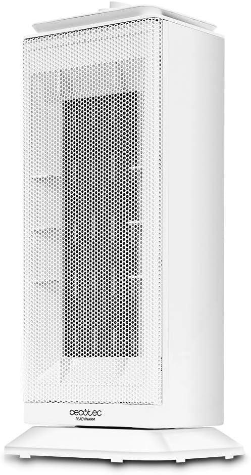Cecotec Calefactor Cerámico Ready Warm 6200 Ceramic Sky. Oscilante, 3 Modos, Termostato Regulable, Sistema Antivuelco, Protección sobrecalentamiento, 2000 W