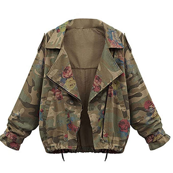 Amazon.com: smile-yz Mujer Rose Impresión camuflaje militar ...