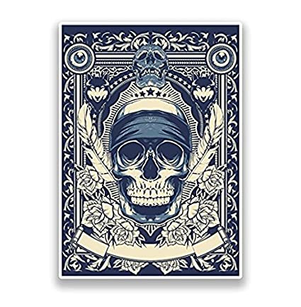 Amazon com: Skull Vinyl Stickers Scary Horror - Sticker Graphic