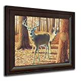 Whitetail Fall - Personalized Romantic Wildlife and Animal Framed Prints for anniversaries, weddings, Valentine's, and Christmas!
