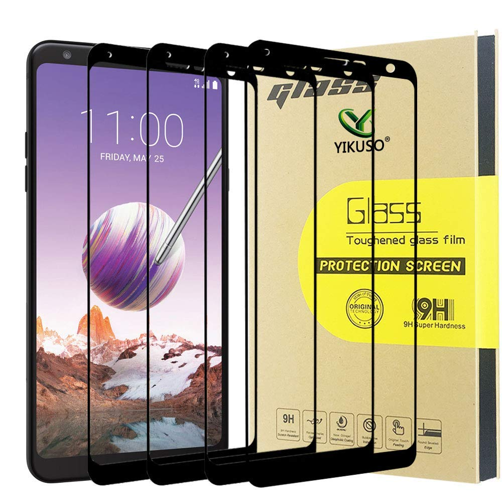 [4Pack] Screen Protector for LG Stylo 4, [Full Cover] Tempered Glass with Lifetime Replacement Warranty