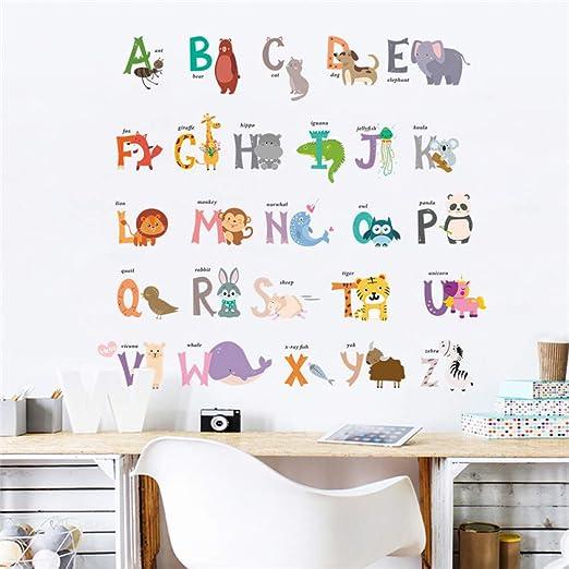 VCTQR Pegatina de Pared ABC abecedario Palabras Pegatinas de ...