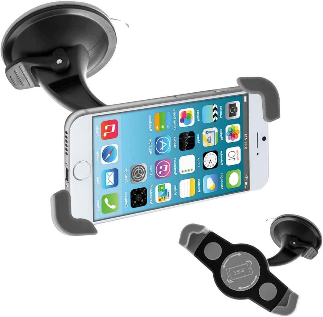Kwmobile Kfz Scheiben Smartphone Halterung Mit Saugnapf Auto Windschutzscheiben 360 Halter Für Handys 12 18 Cm Innenmaße Heimkino Tv Video