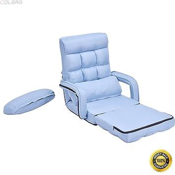 Amazon.com: COLIBROX--Blue Folding Lazy Sofa Floor Chair Sofa ...