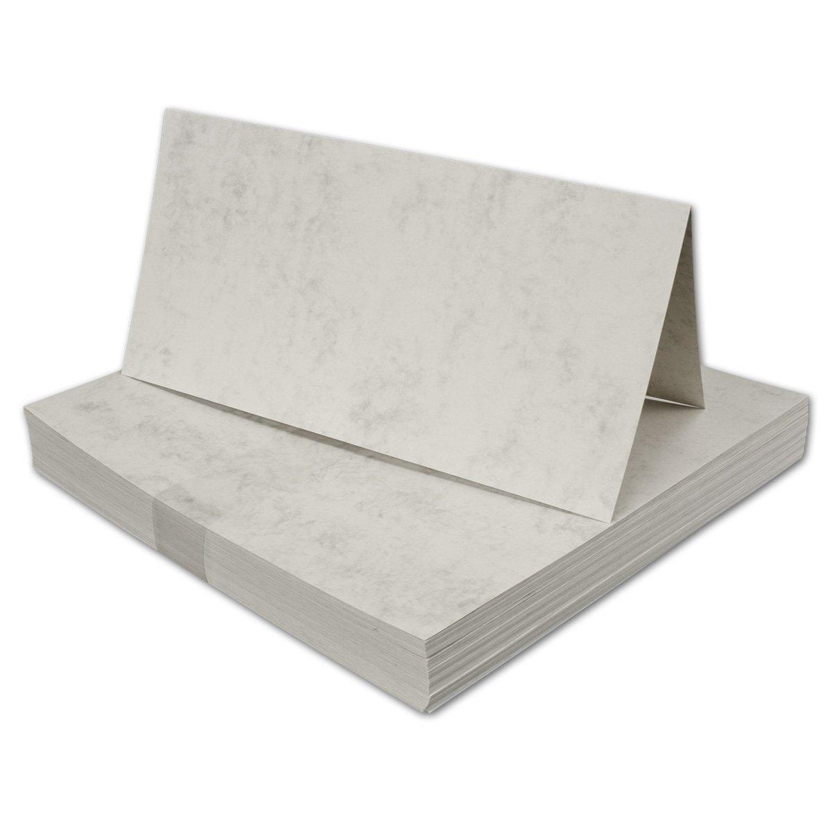 100 Stück I DIN LANG Falt-Karten, GRAU MARMORIERT - 200 g qm, 210 x 210 mm, hochdoppelt B00TBKH9ZO | Perfekte Verarbeitung
