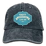 Hat Happy Father's Day Denim Skull Cap Cowboy Cowgirl Sport Hats For Men Women
