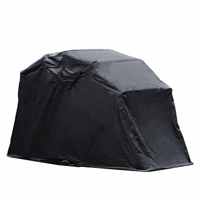 Popsport Motorcycle Shelter Storage Black Oxford Waterproof Motorbike Cover