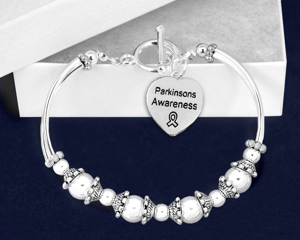 Parkinson's Awareness Partial Beaded Bracelet (1 Bracelet - RETAIL) by Fundraising For A Cause (Image #2)