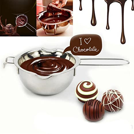 Cacerola de crisol de mantequilla de chocolate inoxidable Cocina casera Caldera doble Milk Bowl ❤️Xinantime