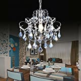 BJVB blue crystal chandelier raindrops crystal ball pendant chandelierCrystal Rain Drop Chandelier Modern & Contemporary Ceiling Pendant LED 9W ceiling lamp W35CM * H28CM