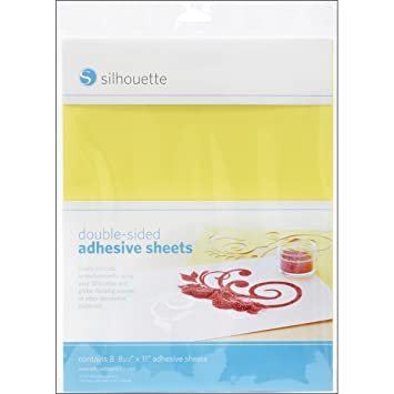 silhouette doublesided adhesive paper