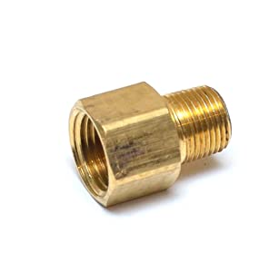 """FasParts 1/2"""" Female NPT FPT FIP to 3/8"""" Male MPT MIP Brass Pipe Adaptor Fitting Fuel/Air/Water/Boat/Gas/Oil WOG"""