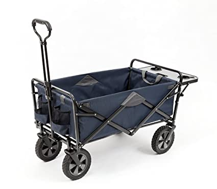 Amazon.com   Mac Sports Collapsible Outdoor Utility Wagon with Folding  Table and Drink Holders 209d911d8
