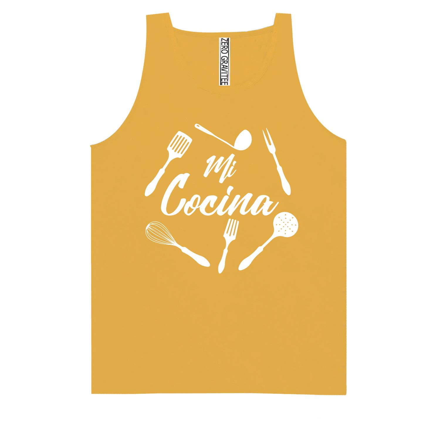 Adult Pigment Dye Tank Top MI COCINA White Text