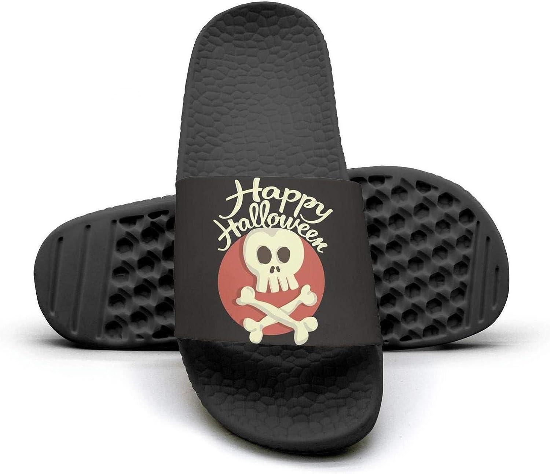TAKLOOL Skull and Bones Halloween Water Resistance Super Soft Men Slides Sandal