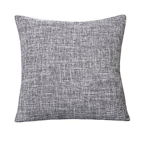 U'Artlines Pillowcase Covers, Slubbed Linen Black white Pillow Case Decorative Cushion Cover Pillowcase for Sofa Pillow Cover