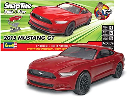 Revell SnapTite Build /& Play 2015 Mustang GT Plastic Model Kit