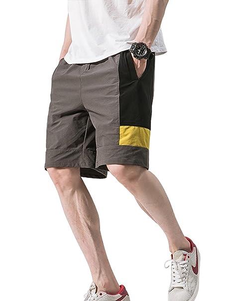 ddba67c3cc Bermuda Deporte Hombre Pantalones Cortos De Playa Al Aire Libre Verano  Casual Ejercicio Físico Elasticidad Secado Rápido  Amazon.es  Ropa y  accesorios