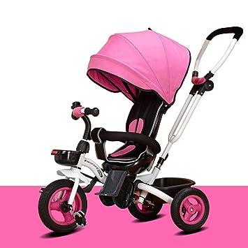 XYQ Carrito de bebé-Carro de bebé 6 Meses -5 años Bebé Respaldo de Bicicleta Ajustable ...