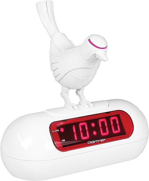 Analog Alarm Clock Chirping Bird Green NR434M