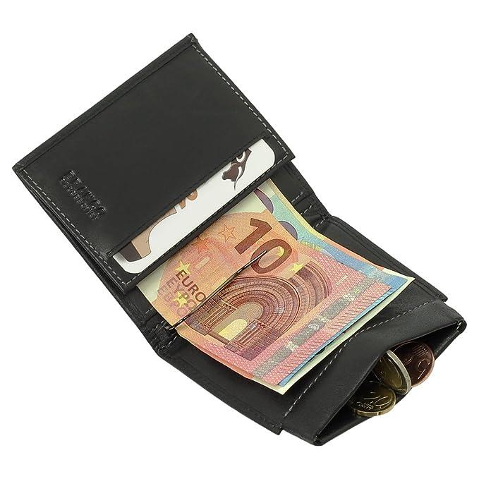 11 opinioni per Dollarclip portafoglio da uomo di cuoio, portamonete, con fermasoldi, nero,
