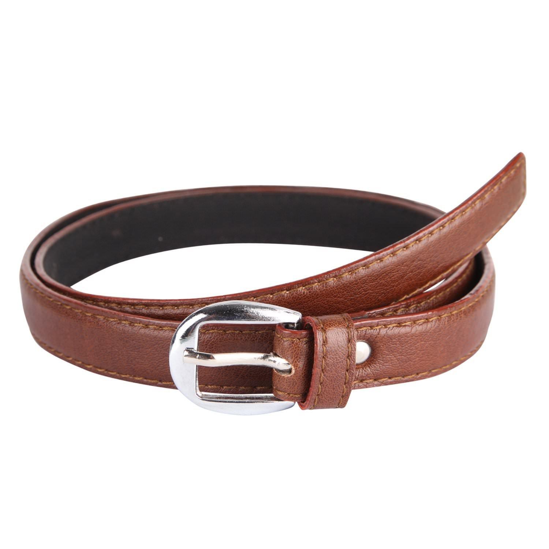 Krystle Women's Brown PU leather belt