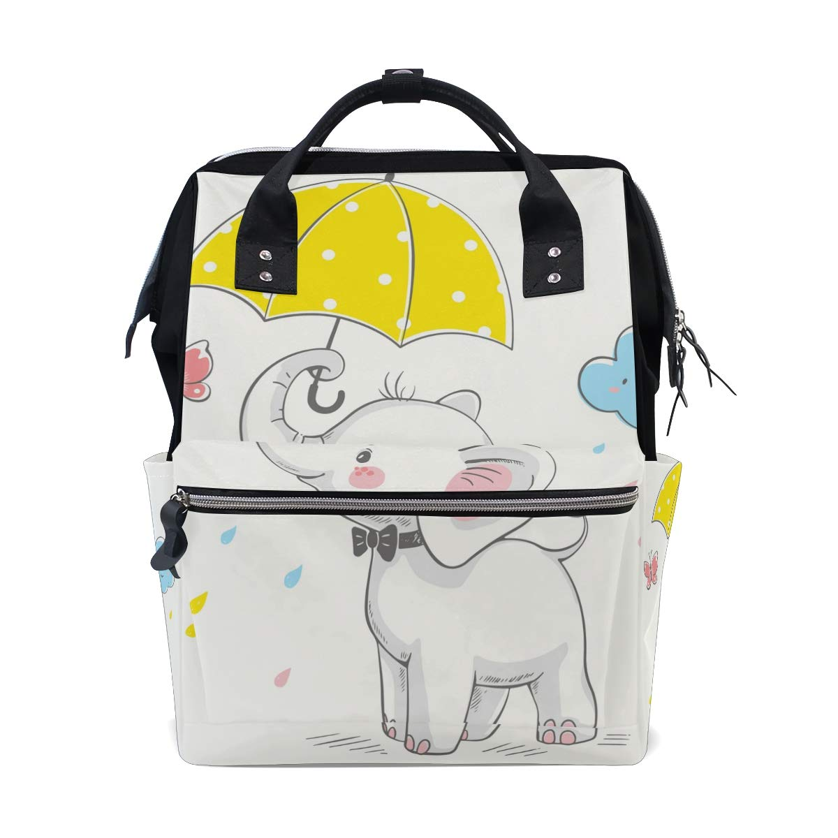 TropicalLife Cute Animal Elephant Diaper Backpack Large Capacity Baby Bags Multi-Function Zipper Casual Travel Backpacks for Mom Dad Unisex by TropicalLife