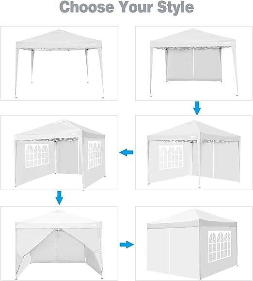 sac de transport enti/èrement /étanche avec cadre antirouille tente de r/éception commerciale abri instantan/é 3 x 3 m, noir 4 sacs de lestage pour pieds COBIZI Tonnelle de r/éception 3 x 3 m