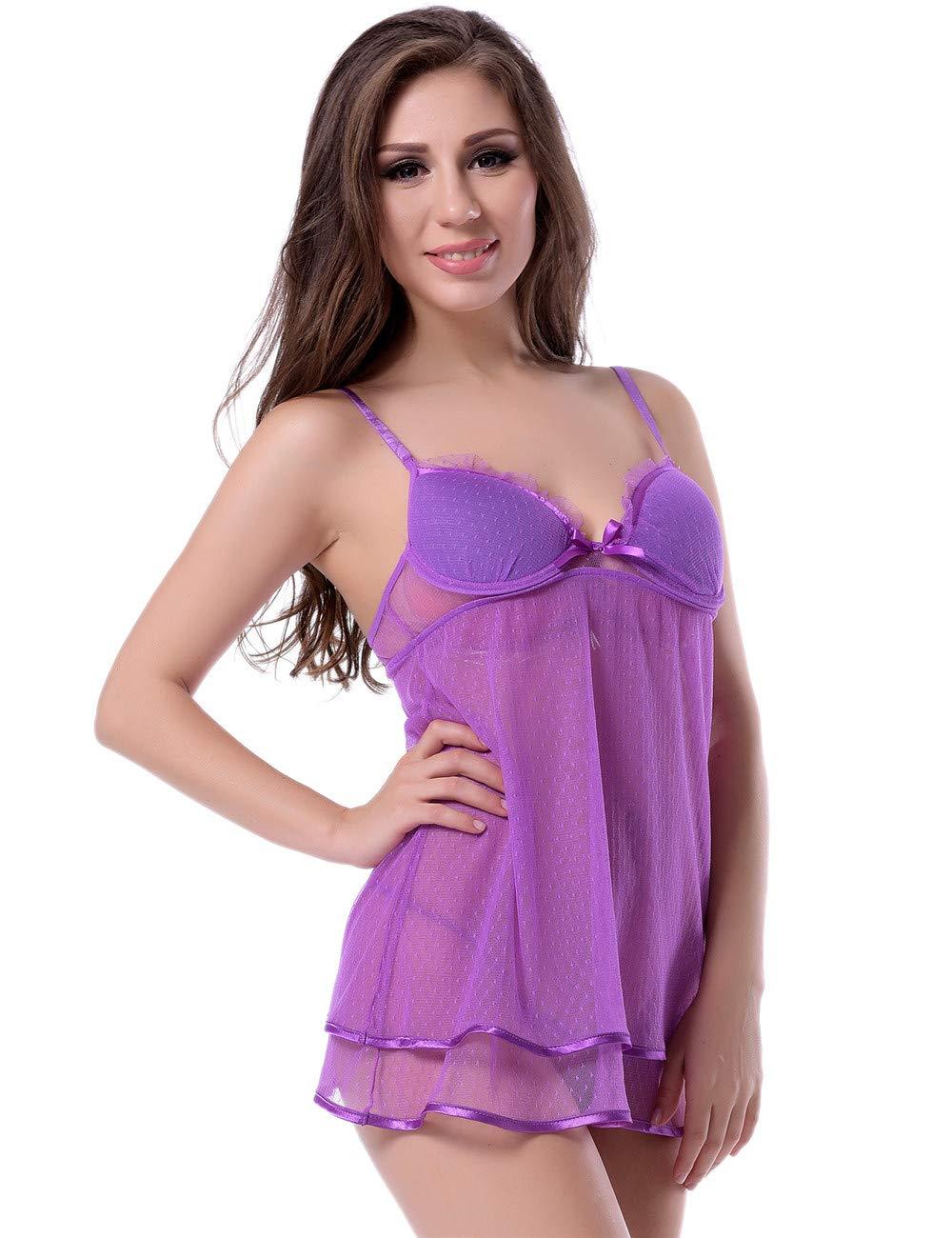 Mujeres Sling Pijamas lencería Sexy Sexy Sexy Encaje Seductor erótico Correa camisón Conjunto de Tanga - múltiples Opciones de tamaño (Tamaño : XL) e1ecab