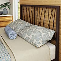 Amisco Ivy Metal Headboard Only, Queen Size 60, Sienna/Mat Medium Brown