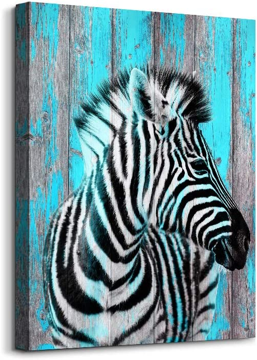 """Canvas Wall Art for Bedroom Wall Decor for Office Modern Family Bathroom Canvas Art Kitchen Zebra Abstract Pictures Artwork Wall Paintings Ready to Hang Children Room Home Decorations 12"""" x 16"""" inch"""