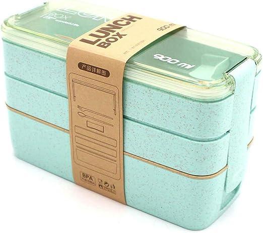 Caja de almuerzo portátil escuela picnic contenedor de alimentos ...