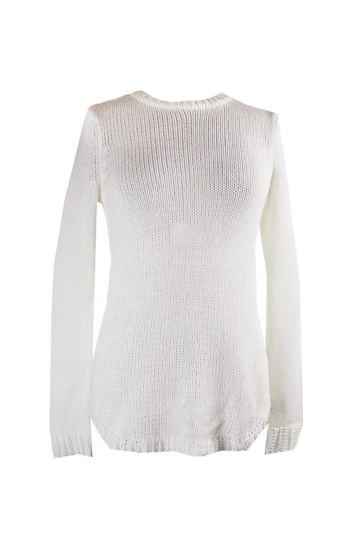 Lauren Ralph Lauren Womens Knit Crewneck Pullover Sweater White XL