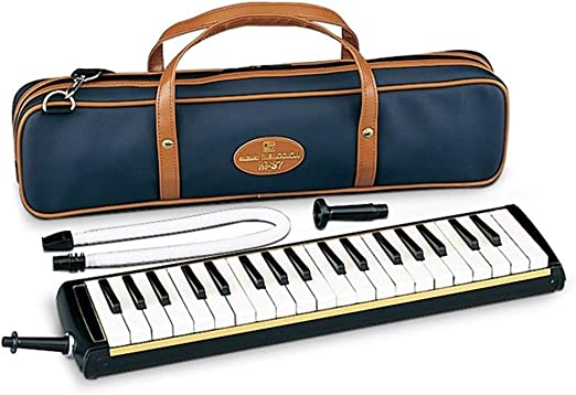 US  Great 37 Key Black Melodica Mouthpiece /& Hose /& Deluxe Carrying Case gift