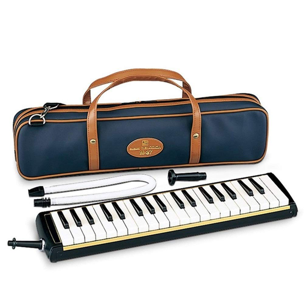 Melodica Musical Instrument Professional Adults 37 Keys Portable Pianica Melodica With Carrying Bag Musical Instrument Gift Toys For Music Lovers Beginners Kids Mouthpieces Tube Sets Black for Music L by Shirleyle-MU (Image #1)